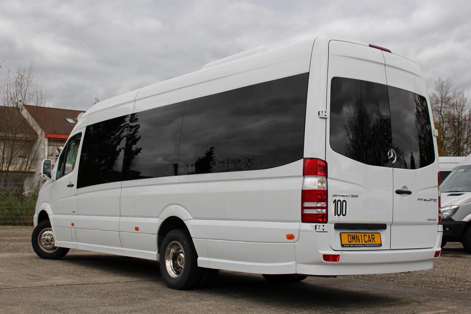 neuer kleinbus mercedes sprinter tourismus 21 pl tzeomnicar gmbh. Black Bedroom Furniture Sets. Home Design Ideas