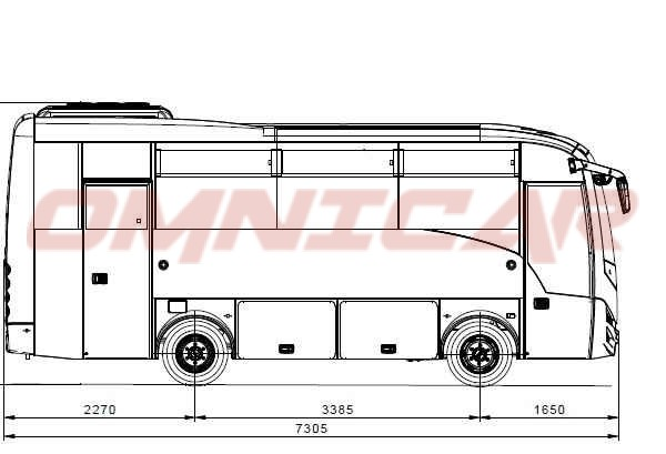 Isuzu Novo Ultra Midibus minibus 30 Sitzplätze