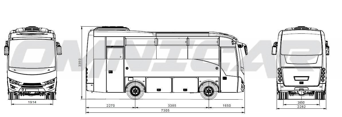 Isuzu-Bus Novo Ultra - 29+1 Plätze von Omnicar Deutschland
