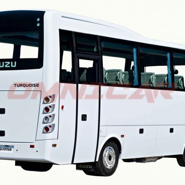Omnicar Midibus Isuzu Turquoise Interurban 33 Sitzplätzen und 6 Stehplätzen