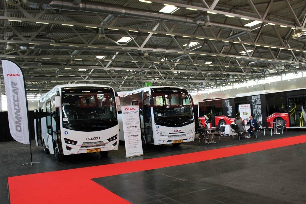 Isuzu Bus hersteller und Omnicar haben den Citiport Stadtbus auf der RDA Köln 2017 vorgestellt