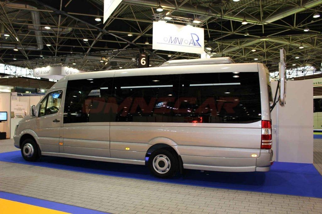 Omnicar Présent la gamme de Minibus 19-24 places a busworld kortrijk 2017 – Hall 2 – 206