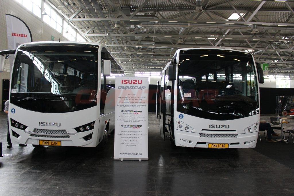 Omnicar und Isuzu Bus busworld kortrijk 2017 mit 1.500 m2 Stand Halle 1- Stand nr. 107