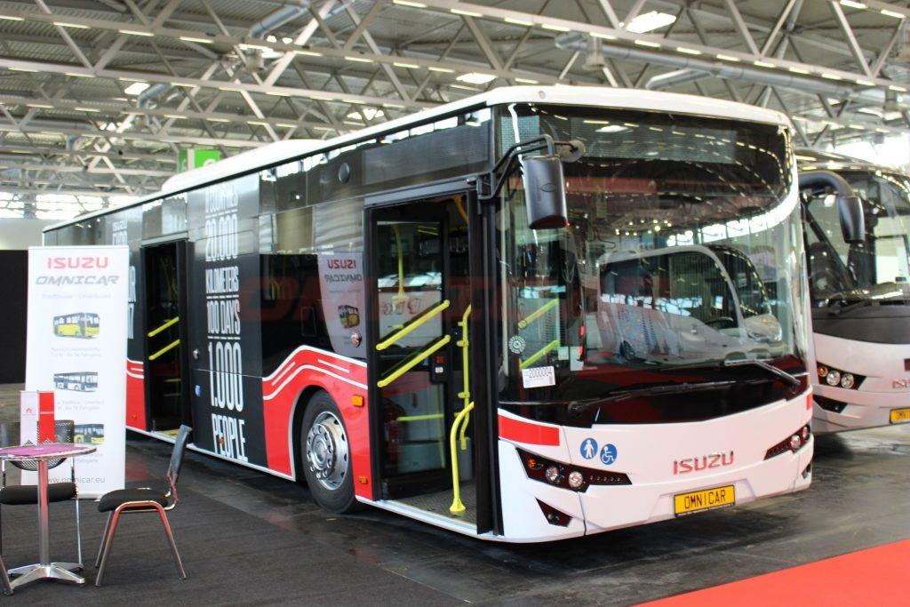 Stadtbus Omnicar GmbH und Isuzu Bus auf der busworld kortrijk 2017 mit 1.500 m2 - Stand Halle 1- Stand nr. 107