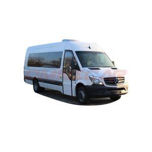 Minibus 22 places plus chauffeur clim porte électrique louvoyante avantgarde (1)