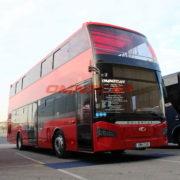 Bus panoramiques à double étage Open top cabriolet toit amovible en bâche basculant GÜLERYÜZ exclusive importateurs