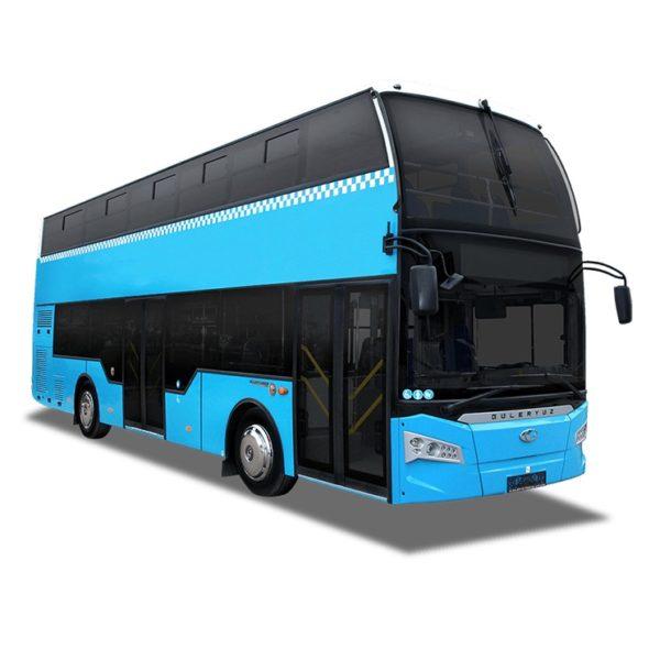 Bus Double étages 75 passager avec toit panoramique couvert vitrée