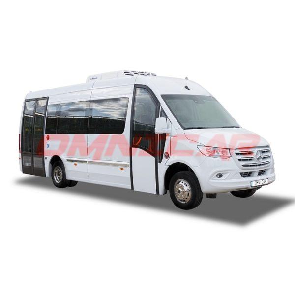 Minibus Mercedes Sprinter arrière abaissé Omnicar 22 passager