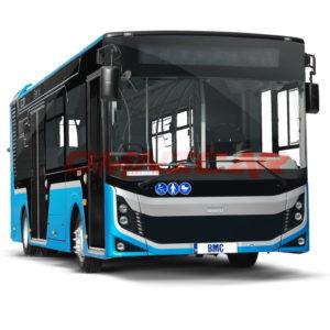 Neocity Elektro Niederflurbus 8,5 Meter 72 Fahrgäste Omnicar BMC Niederflurbus Stadtbus Linienbus