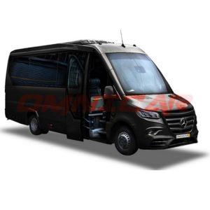 Mercedes Sprinter HD Chassis von 16 bis 22 Plätze mit Kofferraum und hohem Komfort